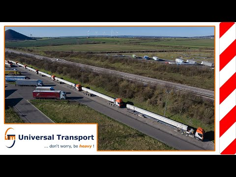 with 20 concrete beams towards the Ore Mountains - Universal Transport
