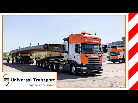 9 bridge parts from Nordhausen to Münster - Universal Transport