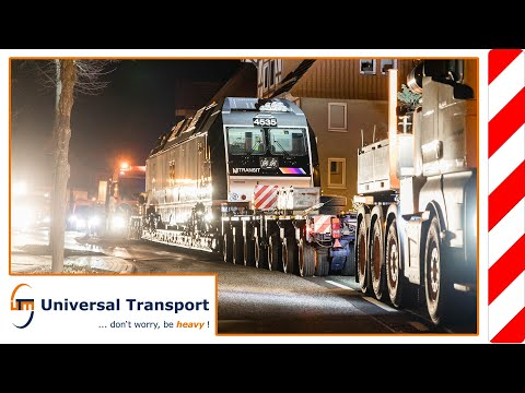 The long journey of the locomotive 4535 - Universal Transport