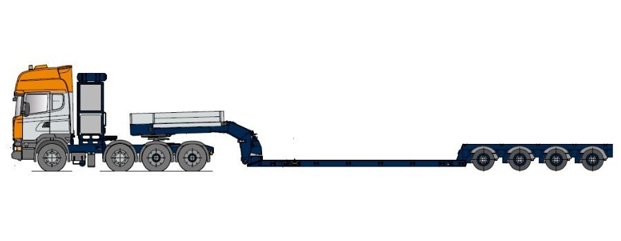 Низкорамная платформа для комбайнов, телескопически выдвижная