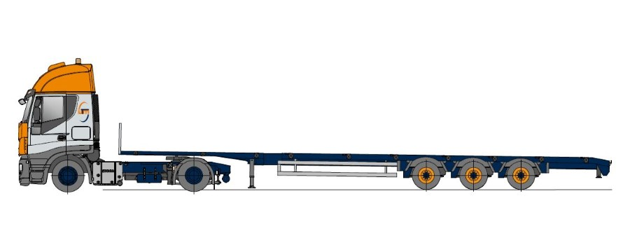 Megatrailer, multiple telescopic